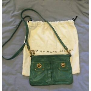 Marc Jacobs messenger bag teal green