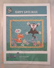 Fluffy Says Boo! - Applique Quilt Pattern - Eat Cake Graphics - Pattern Only