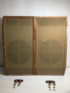PAIR OF VINTAGE  1959 WHARFEDALE SPEAKER  CABINETS ONLY  MODEL W3