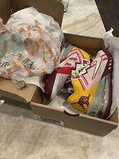 Nike Lebron 18 Low Mimi Plange Higher Learning Shoes CV7562 102 Sz 9.5 w Pin Set
