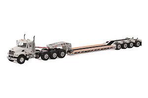 "Mack Granite Truck w/ 4 Axle Rogers Lowboy Trailer ""WHITE"" - 1/50 - WSI #33-2008"