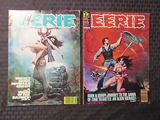1978 EERIE Warren Horror Magazine LOT of 2 #94 VF- 95 VF- Vampirella
