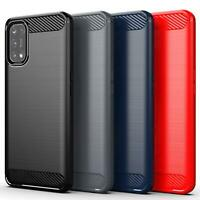 For Realme 7 Pro Case, Carbon Fibre Shockproof Slim Armour Gel Phone Case Cover