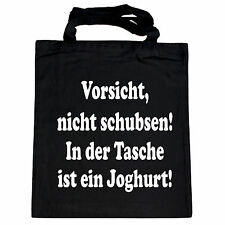 Tragetasche Stofftasche Stoffbeutel Nicht schubsen Shopping Einkaufstasche