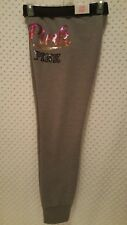 NWT Victoria's Secret PINK Ombre Sequin Bling Gym Pants Gray L
