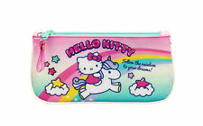 Hello Kitty Pencil Case Candy Unicorn Flat Stationery Office Pouch OFFICIAL