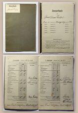 Altes Zensurbuch Volksschule 1909- 1918 Schulgeschichte Deutschland Dokument xz