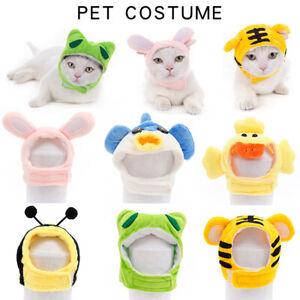 Cute Pet Puppy Dog Hat Cartoon Animals Shape Headwear Cat Cosplay Costume Prop