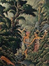 Gemälde auf Leinwand ; Bali, Signiert , bezeichnet