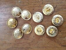 Lot of 10 Soviet Russian Army Military Gold tone Metal Buttons Uniform 22 mm