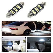 2X 6000K 42mm 5730 White Festoon 12SMD LED Light Bulbs Canbus Loop LED Interior