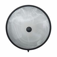 RV Trailer Ceiling Light 12v LED Black