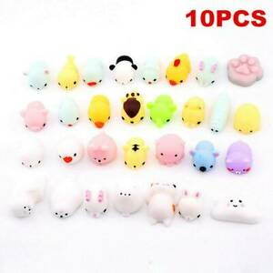Cute Mochi Squishies Kids Toys Animal Fidget Toys Cute Kawaii Rilakkuma 10 Pack