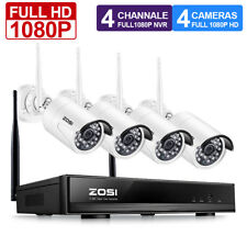 ZOSI 4CH 1080P NVR 3000TVL IP Outdoor Home Wireless CCTV Security Camera System
