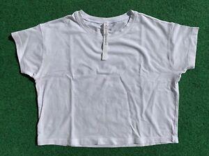 Lululemon Cates tshirt Shortsleeved crop top White Sz 2 Pima Cotton