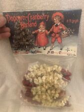 Ragon House Cranberry & Popcorn Garland 9 ft. Christmas Country Primitive