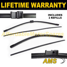 """FRONT AERO WINDSCREEN WIPER BLADES PAIR 24"""" + 19"""" FOR BMW X6 E71 2008 ON"""