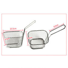 One Mini Potato Chip Frying Basket Strainer Stainless Steel French Fries Kitchen