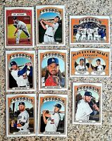 Lot of 9 2021 Topps Heritage Los Angeles DODGERS cards, Mookie Betts, Kershaw