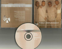 PUBLIC ANNOUNCEMENT Man Ain't RADIO EDIT & INSTRUMENTAL PROMO CD Single R. Kelly