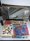 (2) Vintage STROMBECKER Can-Am & Gran Turismo Slot Car Track Lot - 2 Sets w Cars