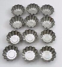 12 VGUC Heavy Fox Run Fluted Ruffled Mini Tart Pans Molds Candle Candy Baking +