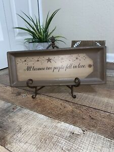 Home Decor Ceramic plaque And Stand Family Because Two People Fell In Love