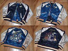 SUKAJAN HOUSTON Souvenir jacket ( japanese L ) Crane MAIKO Plum FUJI Eagle Fan