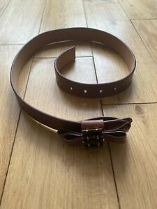 "Paul Smith Ladies Brown ""jewelled""  Belt   XS  3cm width length 90cm"