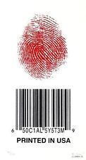 EMEK SOCIAL SYSTEM BARCODE SILKSCREEN SIGNED NUMBERED LIMITED EDITION HANDBILL
