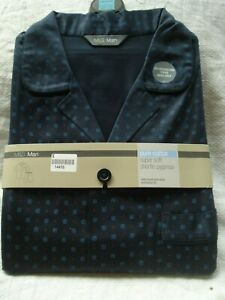 "M&S Pure Cotton Navy Blue Shortie Pyjamas / Shorts ~Size Medium / 38-40"" Chest~"