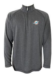 Tommy Bahama NFL Final Score Miami Dolphins IslandZone Half-Zip Sweatshirt Med.