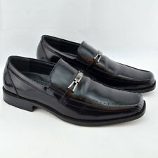 STACY ADAMS Mens Black Slip-On Cade Loafer Dress Shoes SIZE 9.5 Leather