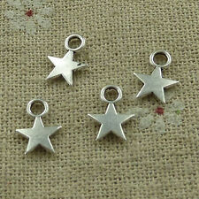 free ship 760 pieces tibetan silver star charms 11x8mm #3448