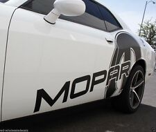Vinyl Graphics Decal Wrap Kit MOPAR Side fits 08-16 Dodge Challenger Matte Black