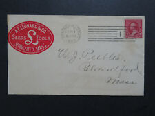 US 1893 Color Cacheted Commercial Cover / Machine Cancel - Z8266