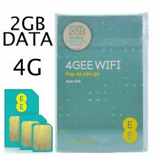 EE PAYG SIM Card Preloaded With 2 GB of 4gee Data