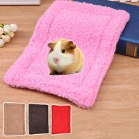 Small Pet Hamster Plush Mat Hedgehog Squirrel Soft Blanket Guinea Pig Bed Pad