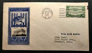 February 15, 1937 FDC AIR MAIL CHINA CLIPPER IOOR CACHET C21 CV $45