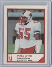 1983 Jogo CFL Canadian Football James Curry Rookie RC - Nevada Reno Wolf Pack