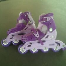 Girls Lilly Inline Skates - Color Purple - Adjustable Size 10 - 13