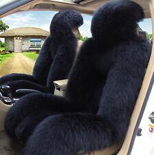 Genuine Australian Sheepskin Fur Car 2 Front Seat Covers Set Cushion Winter M12B
