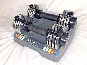 Reebok Speed Pac 25 SpeedPac Dumbbell Set Of Two Adjustable Weights