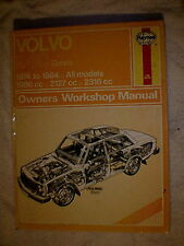 Haynes Owners Workshop Manual - Volvo 240 Series  1974 - 1984
