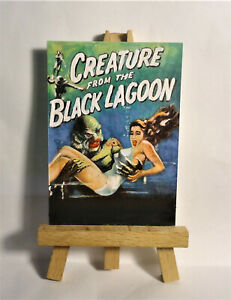 Creature from black Lagoon Movie Poster ACEO Original PAINTING by Ray Dicken