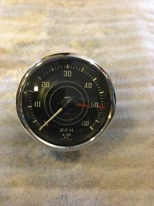 Triumph TR3, TR4 Jaeger Tachometer Part # RN 1402/09, Curved Glass!! Tested