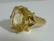 Really Stunning, Large & Unusual Tibetan Sunstone 9K Gold Ring Size O