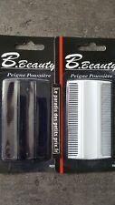 peigne à poux lente, peigne fin, peigne démélage facile, 9  x 5 cm,blanc ou noir