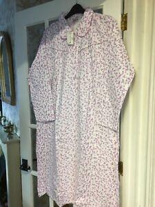 ladies long sleeved nightie 100% cotton 16-18