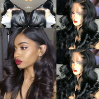 Loose Body Wave Lace Front Wig Indian Remy Human Hair Full Lace Wigs Pre Plucked